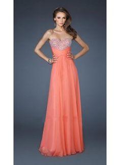 A-Line Sweetheart Floor-Length Long Prom Dress