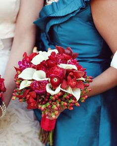 Red white Wedding Bouquets