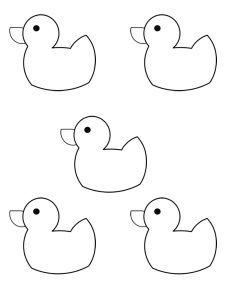 10 rubber ducks puppets