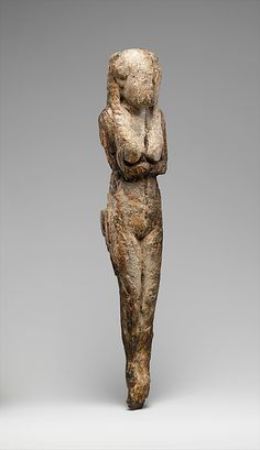 Statuette of a Standing Woman Period: Probably Dynasty 1 Date: ca. 3100–2900 B.C. Geography: Country of Origin Egypt, Northern Upper Egypt, Abydos (Umm el-Qaab, Tell el-Manshiya, others), Osiris temple Medium: Ivory