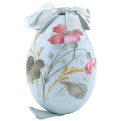 Russian Porcelain Easter Egg Art Nouveau Style