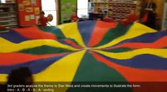 Musical Form, Movement, and a Parachute- AB patterned Star Wars music and Parachute Movement... LOVE IT!