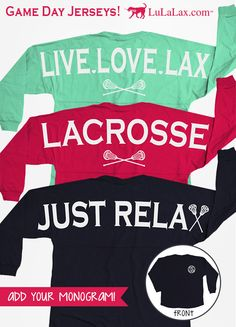 Our popular classic long sleeve crew neck Game Day jerseys are guaranteed to be super comfy and perfect for game day or any any day! Only at LuLaLax.com!
