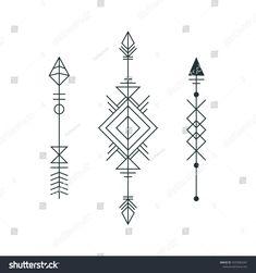 Set of graphic arrows for tattoo design. Geometric Arrow Tattoo, Arrow Tattoo Design, Geometric Tattoo Design, Geometric Designs, Top Tattoos, Arrow Tattoos, Body Art Tattoos, Tattoo Sites, Skull Stencil