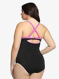 TORRID.COM - Contrast Trim One-Piece Swimsuit