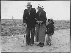 A family walks 30 miles (!) to visit other family  during the Depression. You know they had to be hurting.