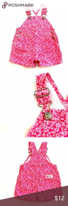 Spotted while shopping on Poshmark: 🎉 HOST PICK !🎉Baby Gap Pink Flower Shortalls! #poshmark #fashion #shopping #style #Baby Gap #Other