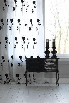 White & Black Sheer Curtains