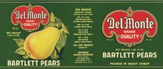 Vintage pears label
