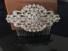 Wedding Comb Bridal Comb Bridal Rhinestone by LuxeBridalDesign