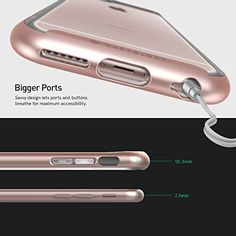 iPhone 6S Plus case, Caseology® [Skyfall Series] [Rose Gold] DIY Customization Fusion Hybrid Cover [Shock Absorbent] for Apple iPhone 6S Plus (2015) & iPhone 6 Plus (2014)