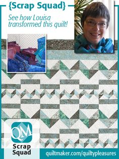 Quiltmaker Scrap Squad member Louisa Robertson created a completely different version of Mountain Morning. Read about it here: http://www.quiltmaker.com/blogs/quiltypleasures/?p=22800