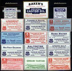 30 Antique Indiana Drug Store Rx Medicine Bottle Labels Other photo