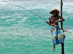 Sri Lanka, fisherman.