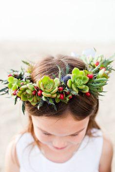 flower girl hair circlet