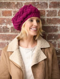 This lace beret using Vanna Sequins in Merlot is a great color to start 2014 off. Check out our other yarns that are similar to Radiant Orchid, Pantone's Color of the Year.