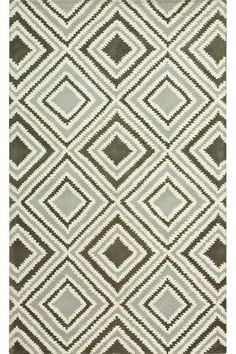 "Insignia Rug - the Modern Design of this area rug is perfect for any room. Wool, 499.00 for 5' 3"" x 8"