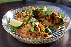 Tilapia Veracruz Recipe on The Doctor's Daughter Blog.  Even Fish Haters will be swayed by this delicious recipe!! So healthy and low in calories and fat!