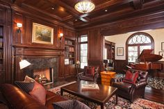 wood paneled room restrained | ... Ideas For Wood Paneled Rooms for Dining Room Transitional design ideas