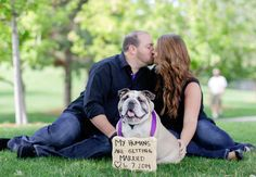 22 Engagement Photos With Dogs That Will Melt Your Heart | Photo by: George Street Photo