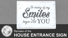Entrance Sign, House Entrance, Diy Projects, Signs, How To Make, Home Decor, Decoration Home, Room Decor, Shop Signs