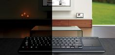 The Logitech Illuminated Keyboard is designed for the living room. Search for movies, edit your music playlist or navigate the web, all from the couch. High Tech Gadgets, Gadgets And Gizmos, Keyboard With Touchpad, Computer Keyboard, Bluetooth, Mobile Phones Online, Home Tech, Usb, New Inventions
