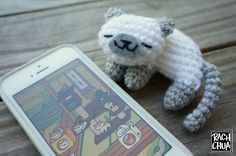 NekoAtsume kitty FREE amigurumi pattern **Amigurumi Queen on Pinterest and like OMG! get some yourself some pawtastic adorable cat shirts, cat socks, and other cat apparel by tapping the pin!