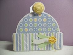 Handmade Baby Boy Card  Baby Hat Card  BLANK Inside by GGgreetings, $3.75