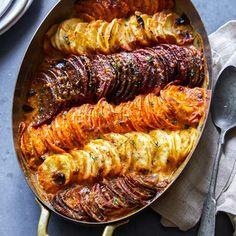 Dieting foods 485966616039531202 - recette cuisine 🌰 cheesy root vegetable gratin (recipe food légume gemüse rezept) Source by Side Dish Recipes, Vegetable Recipes, Vegetarian Recipes, Cooking Recipes, Healthy Recipes, Vegetable Bake, Vegetarian Side Dishes, Gourmet Cooking, Healthy Deserts