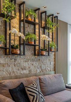 Living Room Designs, Living Room Decor, Living Walls, Home Interior Design, Interior Decorating, Decorating Ideas, Vertical Garden Design, Vertical Bar, Home Entrance Decor