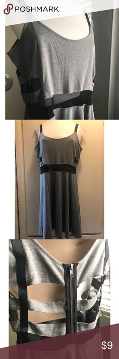 H&M cut out and mesh skater dress Size large, stretchy, mesh in the middle, cut out in the back. H&M Dresses