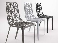 Sedia Impilabile In Alluminio TOUR EIFFEL By COEDITION Design Alain Moatti