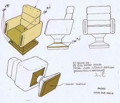 Star Wars Droids Original Cartoon Production Thalls BED Chair Model CEL BV506   eBay