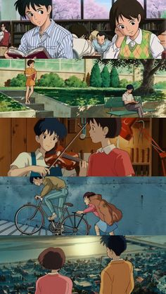 Whisper of the Heart - Ghibli - Seiji and Shizuku - Wallpaper