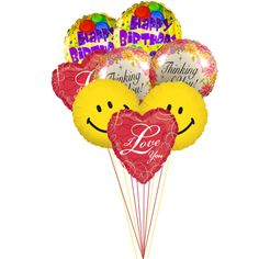 Colorful Happy Birthday Balloons I Love You Send Online