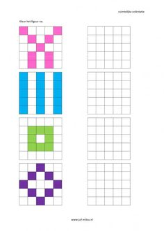 This worksheet and much more in the category spatial orientation - coloring . Montessori Math, Preschool Learning, Kindergarten Activities, Preschool Activities, Teaching, Art Worksheets, Worksheets For Kids, Visual Perception Activities, Math Patterns