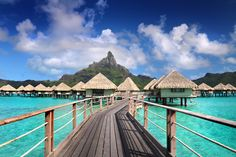 View photos of the Le Meridien Bora Bora, see the hotel and over water bungalows.