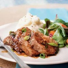 Braised pork loin with pears recipe