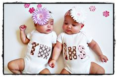 A personal favorite from my Etsy shop https://www.etsy.com/listing/104026824/twins-baby-onesies