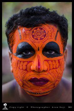 Theyyam by Arun Saji, via 500px [Theyyam is a popular ritual form of worship of North Malabar in Kerala, India]