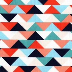 PRESALE - Waterfront Park Fabric Collection - Half Square Triangles in Clementine - Half Yard