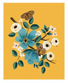 Rifle Paper Co. Monarch Art Print, from Caramel Baby & Child