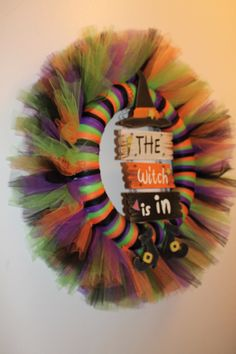 The Witch Is In Tulle Wreath. $30.00, via Etsy.