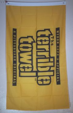 NFL Pittsburgh Steelers Terrible Towel 3x5 Flag Banner Man Cave  FREE SHIPPING…