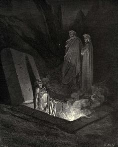 """Gustave Doré, """"The Inferno: Canto 10"""" (1861-1868)."""