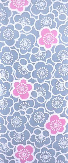 Japanese Tenugui cotton towel fabric. Traditional Japanese design / plum blossom. High quality tenugui fabrics made of soft 100% cotton cloth and hand dyed by Japanese master dyers. [ H o w T o U s e ] * towel * washcloth * dishcloth * headband / bandanna * scarf * wall hanging