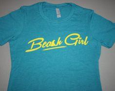 Beach Girl Next Level Women's T-Shirt  Ultra Soft, tshirt, beach lover gift, Christmas gift, ocean, teal