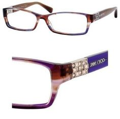 9227b7c92b7d JIMMY CHOO Eyeglasses 41 0ECW Violet 53MM