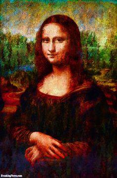 Watercolor Mona Lisa