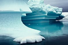 Sculptured Iceberg in Paradise Bay, Antarctic Peninsula (Photo Credit was listed as Doug Thost)